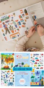 All Around Town Sticker Activity Book (Single Book)