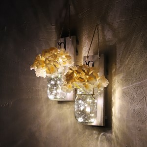 Mason Jar Home Decoration Rustic  Wall Living Room Decoration mason jar wall sconce vintage décor