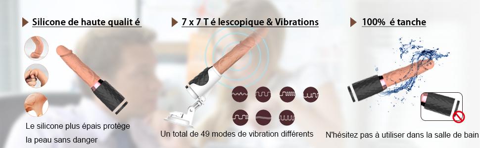 télécommandé Charge USB avec Modes de Vibration sex toy maschine Électrique Puissant