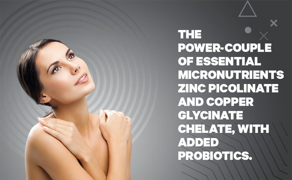 Zinc & Copper Supplement with Probiotics Pill Healthy Immune SYtem Funtion Codeage