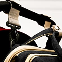 diaper bag with stroller straps
