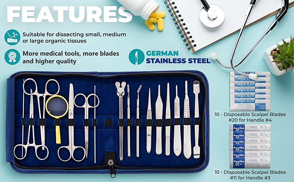 surgical kit dissection kit medical students veterinarian