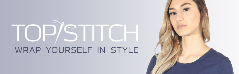 TopStitch: Wrap yourself in style. A model wears an under scrub tee.