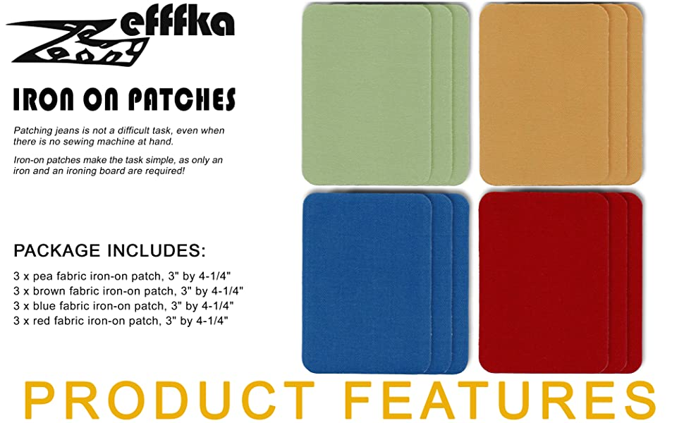 "ZEFFFKA pea brown blue red  fabric Package include 12 pcs, size 3"" by 4-1/4"""