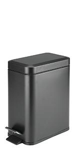 5 Liter Round Small Metal Step Garbage Container Bin Powder Bedroom Kitchen Craft Office Bucket