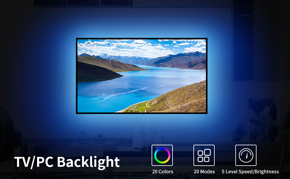 mini controller tv light