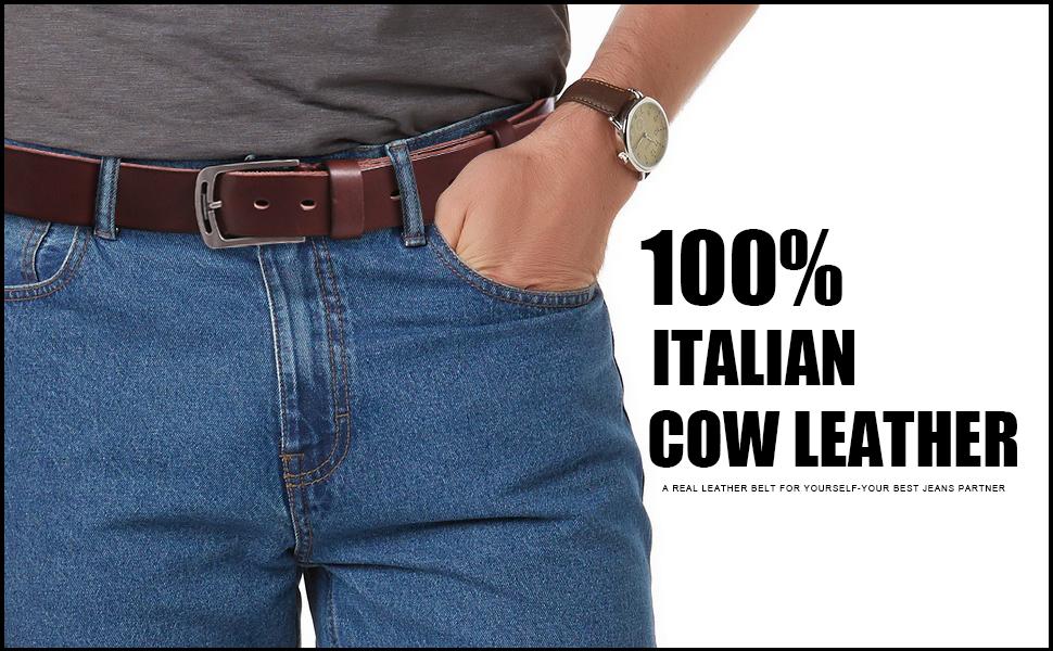 Western Black Sliver Gold Plated F Buckle Black Leather Men Belt Gift Jeans