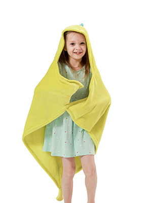 """47/""""/×36/""""(Blue) Dinosaur Hooded Blanket for Kids Soft Flannel Fleece Fabric,Great Gifts for Children,Fit 2-8 Years Old 3D Toddler Wearable Animal Snuggie Throw"""