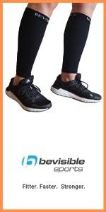 bevisible sports calf compression sleeves shin splint socks