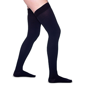 ted hose men xl support compression stockings socks absolute knee highs cotton edema black made sock