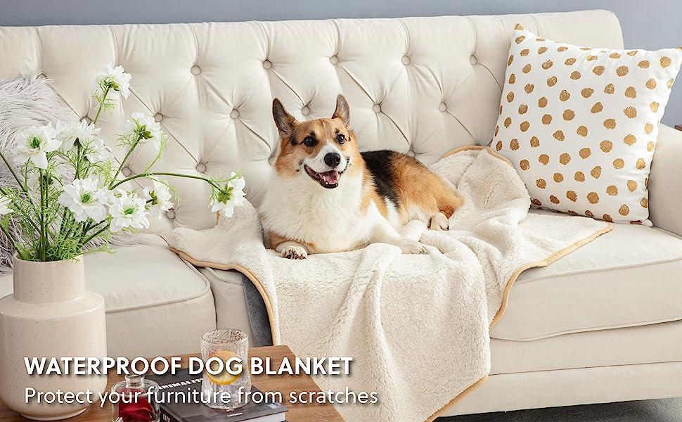 Bedsure   Get cozy with Waterproof Dog Blanket