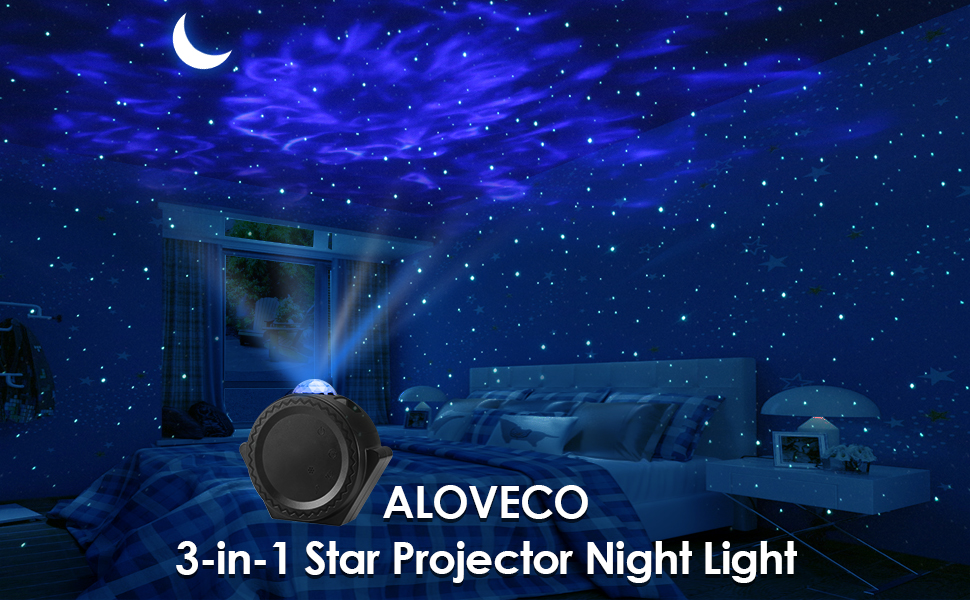 Night Light Projector LED Nebula Cloud Light with Moon Star ALOVECO Star Projector Touch/&Voice Control Auto-Off Starry Sky Galaxy Projector for Game Room Party Home Theatre Night Light Ambiance