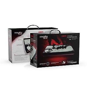DRAGON SLAY Universal Arcade Fight Stick Controlador - 8 Botón Compatible con SWITCH, PS4, Xbox One, PC