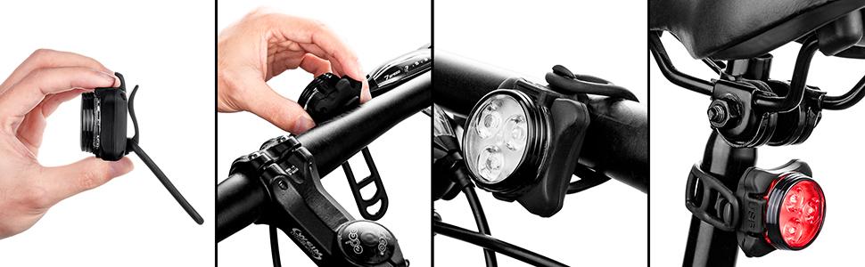 bike lights front and back light
