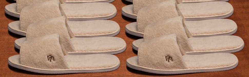 Nicely Neat 12pk/Open Toe Coral Fleece Slipper