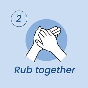 Rub together