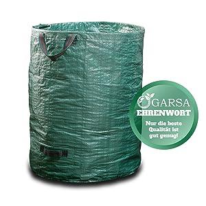 3x Gartenabfallsack Gartensack Gartentasche Laubsack Rasensack 300 Liter XXL