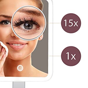 Fancii 15x magnifying makeup mirror