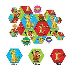 Simba, Timon, Pumba