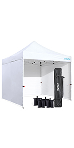 Pop-Up Canopy Tent with sidewalls & Weight Bags