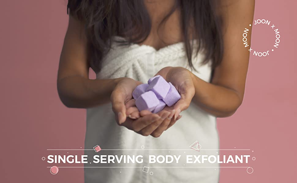 single serving body exfoliant
