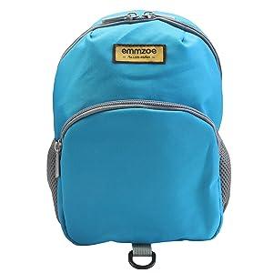emmzoe neon toddler backpack blue front