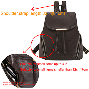 Women Backpack Everunny PU Leather Backpack Ladies Rucksack Drawstring Backpack School Bags Backpacks for Women Girls