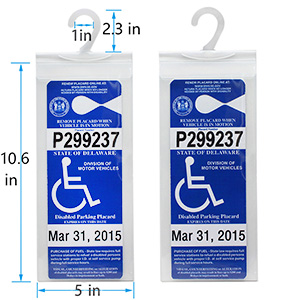 handicapped placard cover
