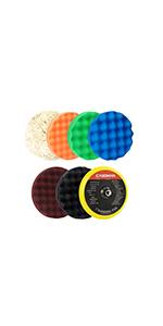 7-Inch Buffing and Polishing Pad Kit