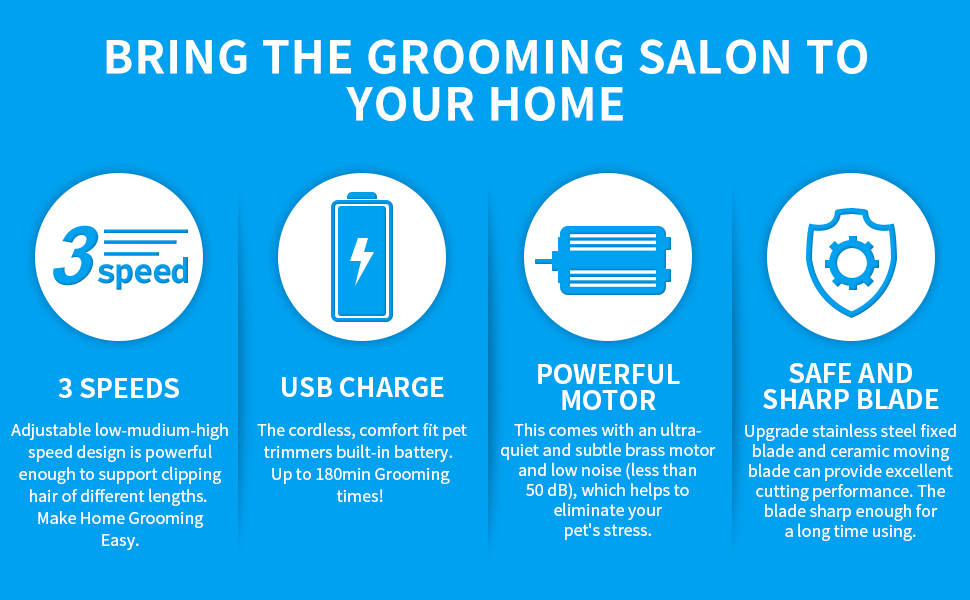 dog grooming clippers for thick coats