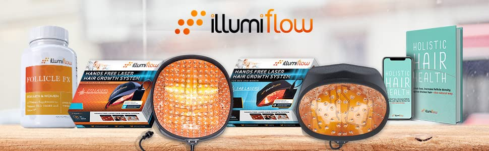 illumiflow laser caps for hair regrowth, 148 laser cap, 272 laser cap, hair regrowth