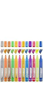 12 Colors Glitter Paint Pens