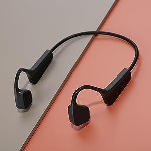 Wireless bone conduction headphones bluetooth