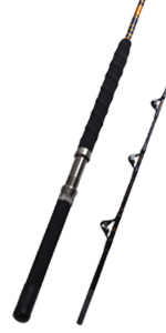 1-Piece/2-Piece Saltwater Offshore Heavy Trolling Rod Big Game Roller Rod Conventional Boat