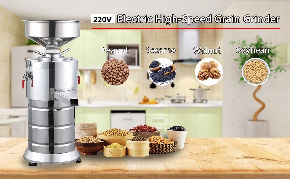 1100W Commercial Electric Stainless steel Peanut Nut Butter Grinder Paste Sauce Pressing Machine