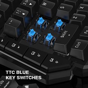 TTC Blue Key Switches
