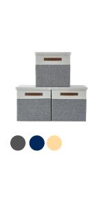 DECOMOMO Storage Bin Foldable Collapsible Fabric Sturdy Cute Closet Nursery Baby Girl Boy