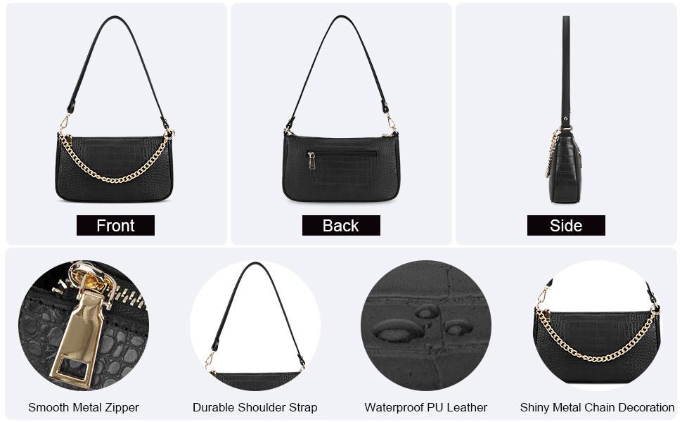 Small Shoulder Bag for Women Classic Clutch Shoulder Tote Handbag