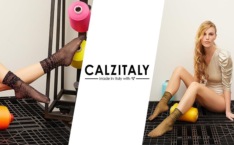 Calzini donna velati colorati pois