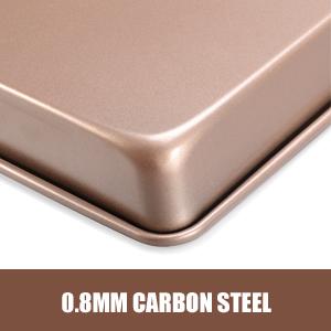 baking pans premium carbon steel nonstick rectangle baking pan oven pans for baking deep bake tray