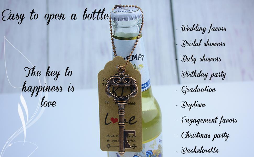 wedding favors keys bottle wedding favors skeleton key bottle wedding favors with tag tags wedding