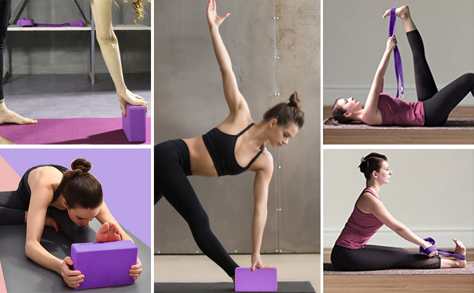 yoga blocks 2 pack
