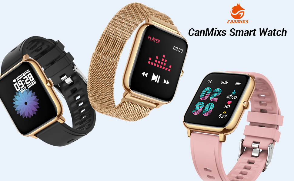 android smart watches  CanMixs Smart Watch for Android Phones iOS Waterproof Smart Watches for Women Men Sports Digital Watch Fitness Tracker Heart Rate Blood Oxygen Sleep Monitor Touch Screen Compatible Samsung iPhone 42e1bfcb ca82 4944 a54c d38e46bfe488
