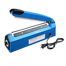 Portable Heat Sealing Machine Hand Clamp Sealer 200mm 220V Poly Mylar Foil Bags