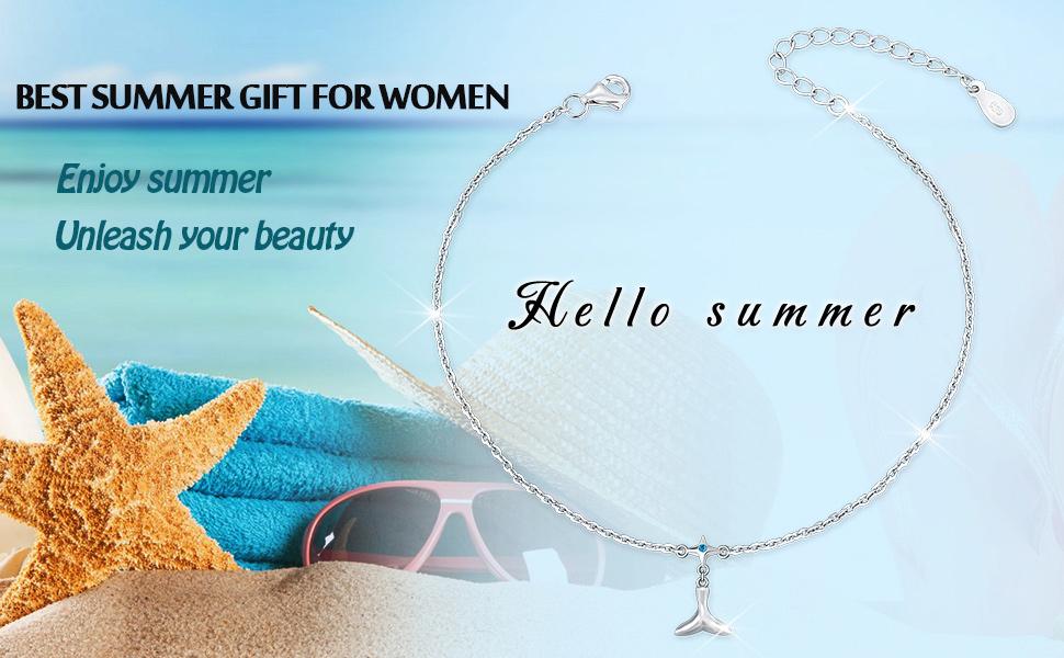 Mermaid Bracelet Mermaid Anklet Bracelet Anklet set Gift for Girl Christmas Gift for Girl Beachwear Mermaid Water Safe wear Jewelry Set