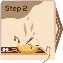 Step 2: Manna health mix cooking