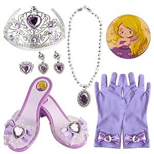 Purple Princess Dress Up Shoes Set