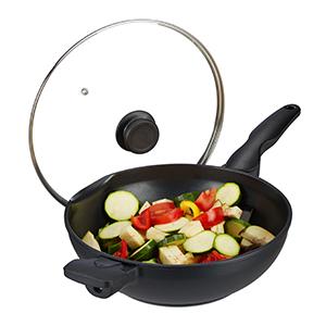 wok à couvercle