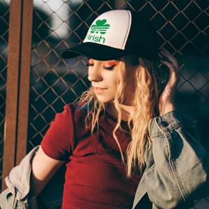 green golf hat ladies with shamrock st patricks day trucker hats