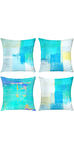 turquoise throw pillow decorative pillows for living room  teal pillow covers 18x18 sofa pillows